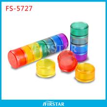 High Quality Plastic fancy 7 day plastic pill box tablet box