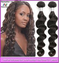 virgin human hair wholesale high quality hair extension with custom pvc hair extension bag