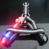 Wholesale Glowing LED Pet Dog Chest Strap / Dog Back Harness / Retractable Pet Leash
