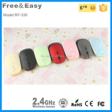 Good looking shape 2.4g pretty laser mouse wireless v9
