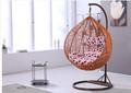 El último diseño al por mayor de ratán silla del oscilación +indoor indio swing con cómodo cojín para silla de la rota