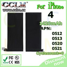 for IPhone battery gb t18287 cell phone battery for iphone 4 battery