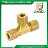 High qulity and low price Zhejiang manufacture forged yellow brass color male threaded metric tubing fittings tee for water