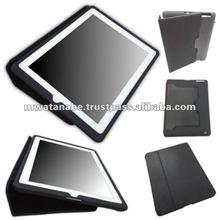 Black iPad Case ( iPad 2 and iPad 3 ) : Japanese stylish iPad case with PU leather and silicone