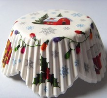 Partysu snow house large stock Low Price hight quality Dot greaseproof paper Cupcake Liner cake Cup muffin baking for wedding