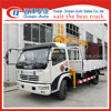 DFAC euro 3 mini diesel vehicle truck mounted telescopic crane
