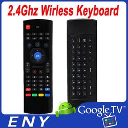 NEW 2.4Ghz Wireless mini Keyboard 3D air mouse with MIC Infrared remote control