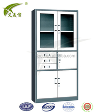 glass medical cabinet MANUFACTURER with 2 doors steel cupboard