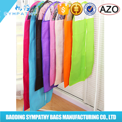 non woven with zippered garment bag for suit bag