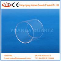 80mm diameter 5mm thickness short cutting quartz glass tube