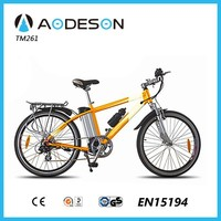 Alloy frame electric bicycle wth disc brake and inner 7 speed, electric bike with 36V motor and Lithium battery moubtain bike