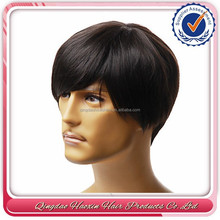 Best selling cheap lace front men human hair wigs for old man