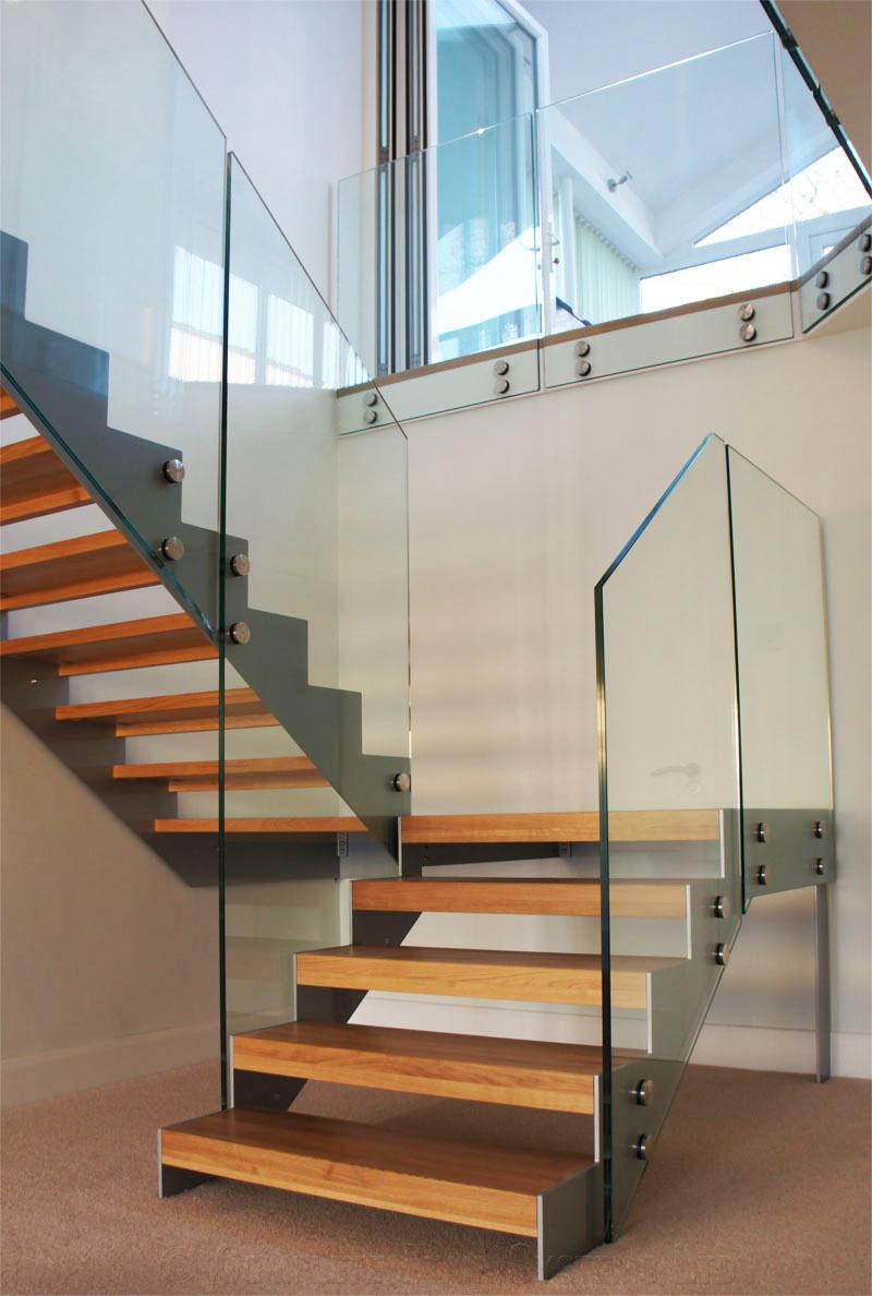 Nuevo dise o de acero inoxidable barandilla de escalera de - Barandilla de acero inoxidable ...