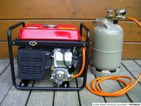 Hybrid conversion kit for portable gasoline power generator to use LPG gas