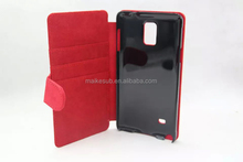 Sublimation pu leather phone case for samsung galaxy note 4