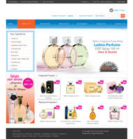 Online Shopping website templates for Cosmetic