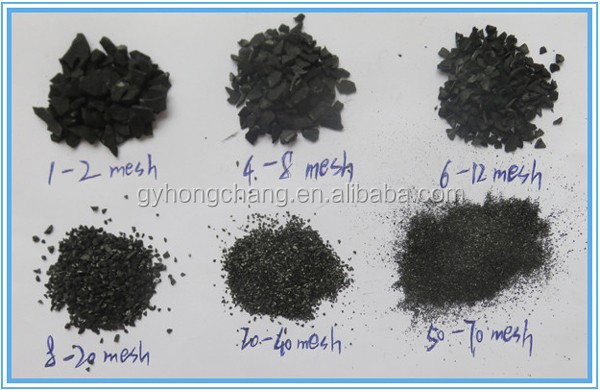 coconut activated carbon different size