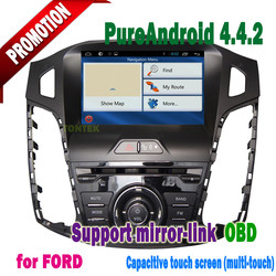 android 4.4.2 car dvd player for ford Focus with Capacitive screen 3g/wifi mirror-link +hotspot+radio/mp3/gps 2012 2013