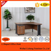 L Shaped computer table/wooden executive office furniture desk