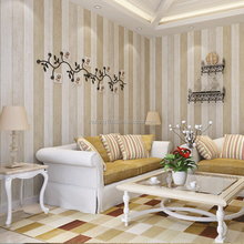 blue and white wood striped wallpaper