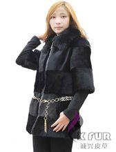 Cx-g-a-38 nuevo estilo de piel de conejo capa de ropa para mujer
