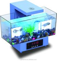 Fashionable desk fish tank&bluetooth usb/TF player FM Aquarium LED Light Filter