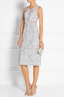 2015 Wholesale High end Knee Length formal sleeveless cutout Dress