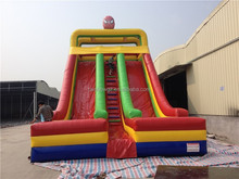 inflatable spiderman theme high slide double slide for sale