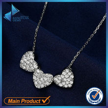 Heart shape for lover silver necklace 925