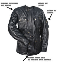 Motorbike fashion leather jacket