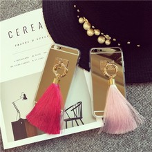 2015 mirror phone case for iphone6 4.7 inch ,mirror case for cell phone,fancy hanging case with mirror
