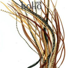 100% real long rooster bird feather hair extensions for sale