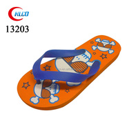 Fancy cartoon painted beach thick sole flip flops