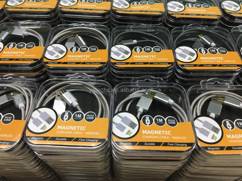 Usb кабель для передачи данных 1 м зарядное устройство шнур магнитный материал нейлон зарядный кабель для мобильного телефона