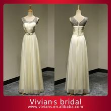 Shipping free chiffon 100% real photo scoop neckline sweep train chiffon evening dress with bling stones EV2067