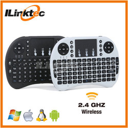 Good selling 2.4G mini wireless keyboard and trackball, mini keyboard wireless remote for Android TV box