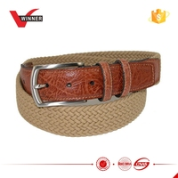 New design Wholesale jeans knitted belt