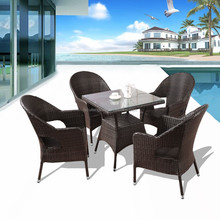 High-end rattan table and chairs restaurant furniture patio furniture
