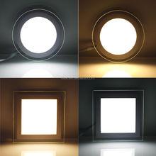 warm white and cool white glass led panel light, SMD5730 led light panel glass, dimmable backlit led panel light