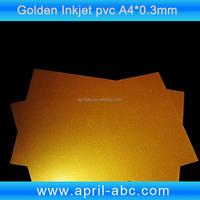 A4 Golden plastic pvc card material