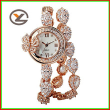 Alloy case with butterfly lady watch,vogue wrist watch bracelet ladies watch
