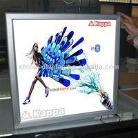 Customized Size Aluminum Frame LED Lighted advertising large led light box for ad