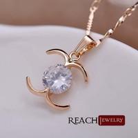 Wholesale Fashion Jewelery Rose Gold Plating Stylish Necklace