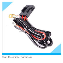 Manufacture supply high temperature automotive headlight wire cable harness assembly with relay fuse