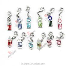 Mobile phone charms, metal phone charms dangle, interesting small charms wholesale