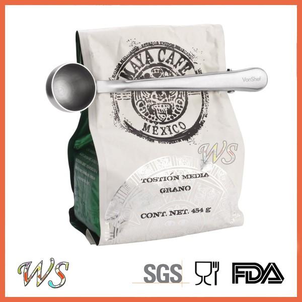 WS-CS01 en acier Inoxydable café cuillère avec clip