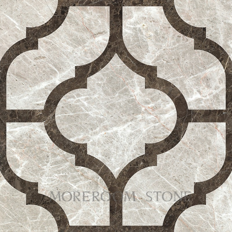 Italy Marble Price Polished Grey Tiles Water Jet