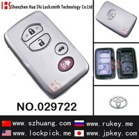 wholesale 4 button smart remote key cover, key case for Toy/029722