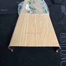 Roller Coating/Powder Coating Wood Grain S Shaped Metal/ Aluminum Interior Strip Ceiling