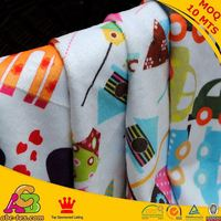2015 fashion design MOQ 10MTS high quality Oeko-tex 100 and SGS printed baby blanket